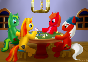 Request: PonyGAF Poker Night by McNum