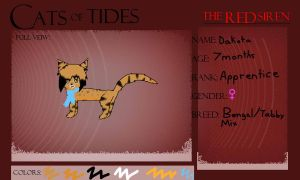 Cats of Tides Application - Dakota by Jazznote