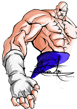 Sagat Collaboration by Mike-J