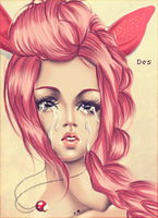 Tears in pink by RazorCheeks