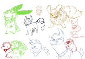 PMD - Event 4 doodles by The-Chibster