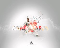 Neymar Wallpaper by Ergen-Art