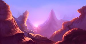 Mountain canyon by Tiramizsu