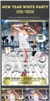 Gentlemen New Year lingerie White Party PSD Flyer by amrhamza