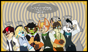 AnthroCon2016 Room Sign by Sockune