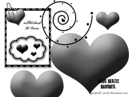 BRUSHES: Attached to love by agosbeatle-stock