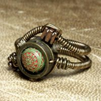 Steampunk Jewelry Ring X by CatherinetteRings