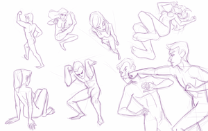 sketch - poses by taffygiraffe