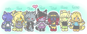 my super friends! :GifT: by PauuhAnthoTheCat