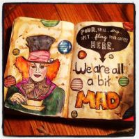 Mad Hatter Wreck This Journal by aljohnsonwoofwoof
