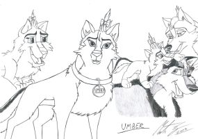 Kitara the wolfhound - Umber. 2 by MortenEng21
