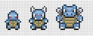 Mini: Squirtle, Wartortle, Blastoise by Hama-Girl