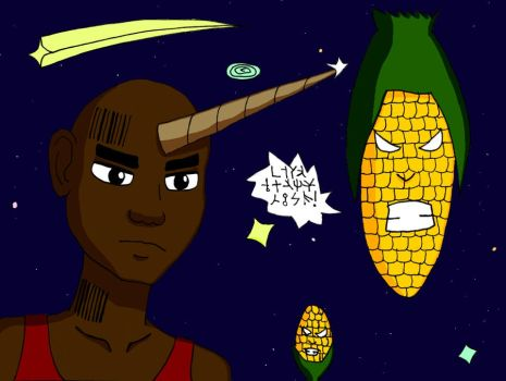 Onicorn Vs The Intergalactic Space Corn - Color by keylord