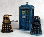 Daleks and TARDIS by Spielorjh