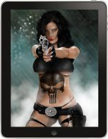 'iPad Art' Lady Punisher by mrmanders