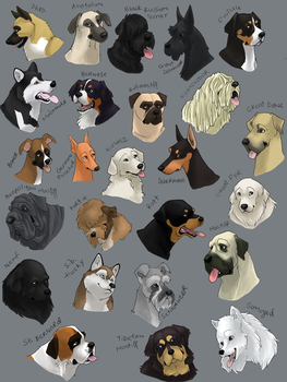 dog icons - WORKING GROUP by swift-whippet