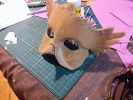 Owl masquerade Mask WIP by firedrack