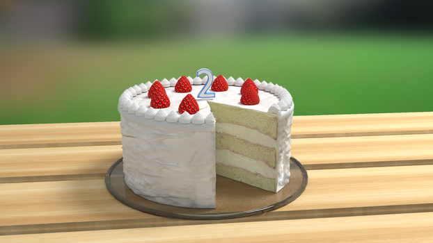 A cake by telimonster