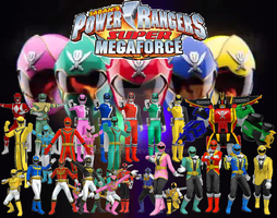 Power Rangers Super MegaForce review title-card by Zeltrax987