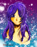 Girl with Purple Hair Test by baskervwatson