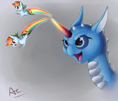 My Horn Shoots Rainbows! by AC-whiteraven