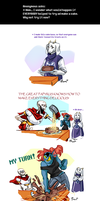 Undertale ask blog: caketastrophy by bPAVLICA