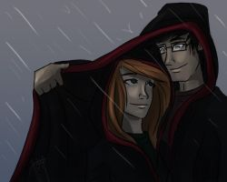 in the rain by blindbandit5
