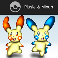 New Challenger Plusel And Minun by CrossoverGamer
