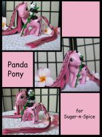 Panda Pony for Sugar-n-Spice by Sweetlittlejenny