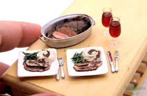 1:12 Scale Roast Beef Dinner by Bon-AppetEats