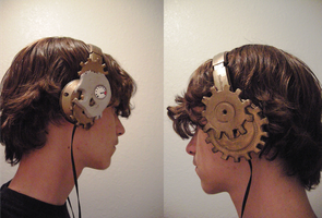 Skullcandy Steampunk Headphones by Draughtman