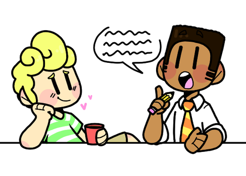 They're coming up with Comic ideas by TOKISH