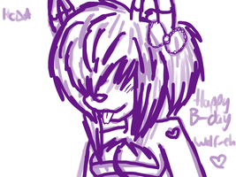 X~happy birthday wolfeh~X by X-RedFox-X