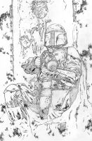 Boba Fett / pencils by jasonbaroody