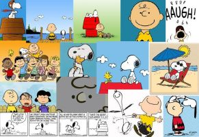 peanuts comic collage by buttonsthegreat