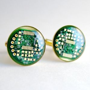 Computer Cufflinks by Techcycle