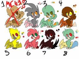 Flock Adoptables (Open! 6 left!) by MOVEDTOHAWKBUTT