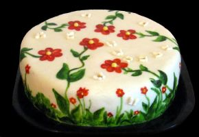 Flowers cake by monarte