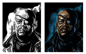Nick Fury Movie 1 by ncajayon