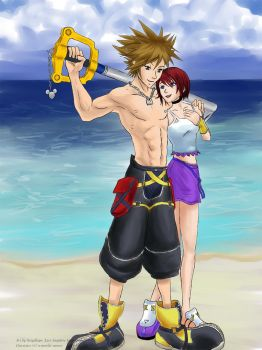 Buff Sora and Kairi - Commissh by Saiyakupo