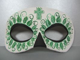 Day of the Dead green mask by maskedzone