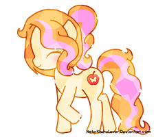 Crystal Sweet Peach {Pony OC} by Rockabell-Neko