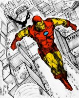 IRONMAN - FLY-BY Colored! by femshepfan2013
