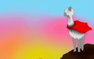 Thanks so much dor the 100 llama!! (animation) by valkeakarhu