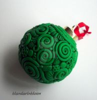Green Filigree Christmas Ornament by MandarinMoon