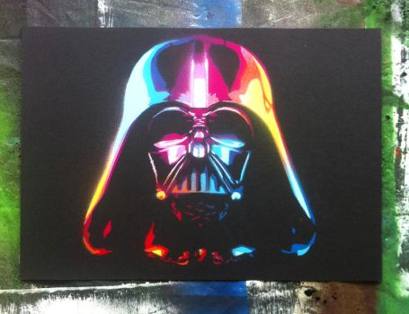 The Rainbow Sith Lord Darth Vader by jarbid
