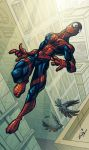 Boring Spidey by cruzarte