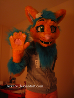 Pai fursuit HEAD completed! by Arkare