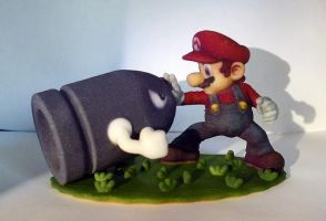 Mario Versus Bullet Bill 3D printed by Vidal-Design