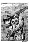 Punisher commission by LeighWalls-Artist